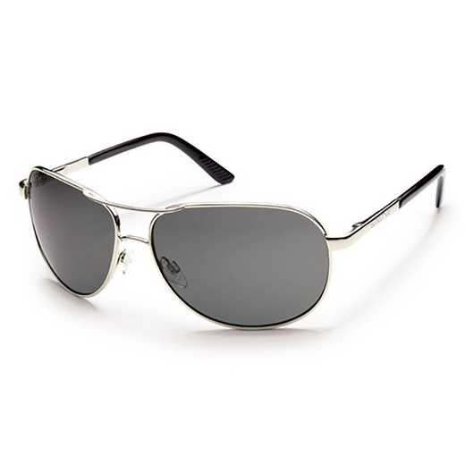 S-AVPPGYSV: Smith Suncloud Aviator Polarized Sunglasses -  Silver/Gray